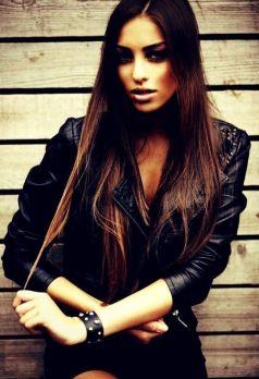 leather jacket 80s girl rocker