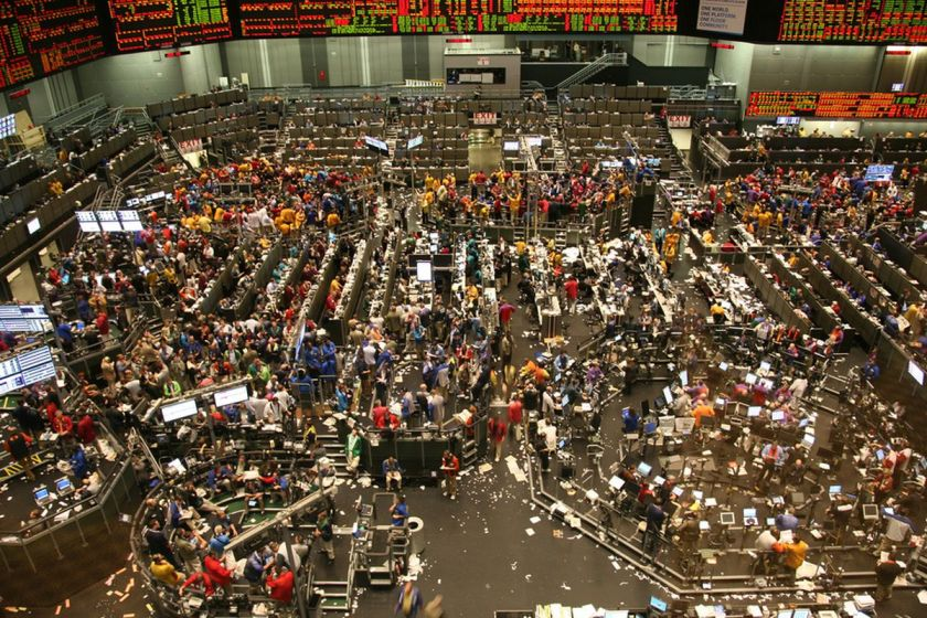 chicago board of trade trading floor in chicago cbot