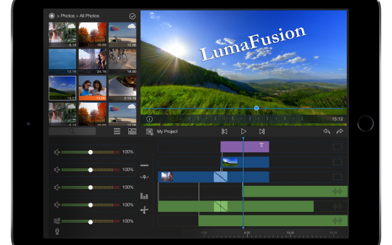 how to edit video with lumafusion for youtube