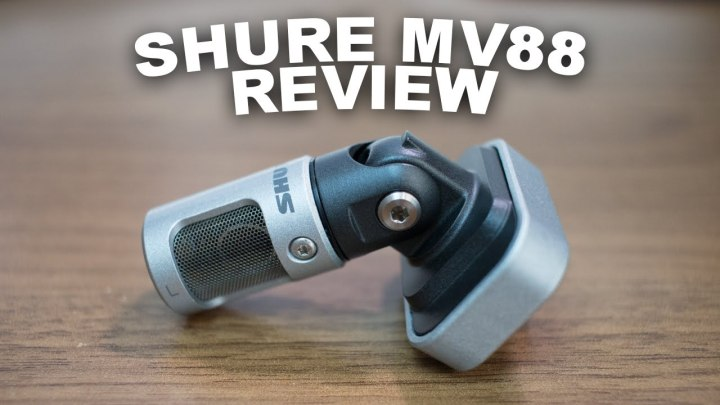 Shure mv88 microphone review. Iphone microphone for YouTube vlogging