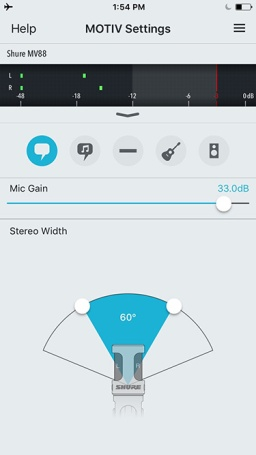 shure mv88 iphone microphone review with motiv app