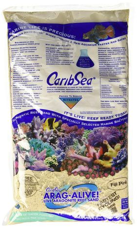 The best sand for a saltwater aquarium deep sand bed is CARIB SEA