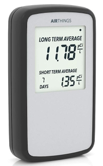 Radon tester for testing for radon gas in home or office